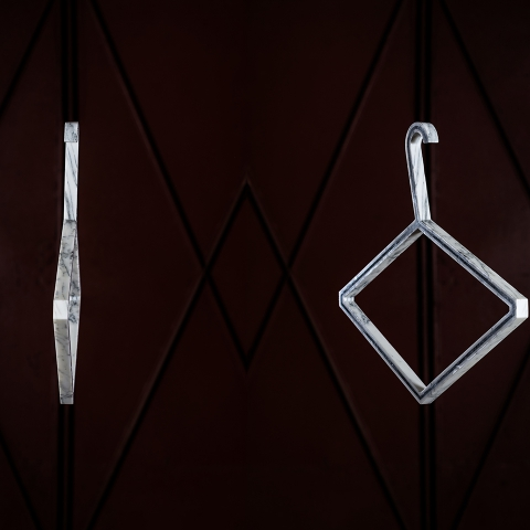 Compose your own marble clothes hanger